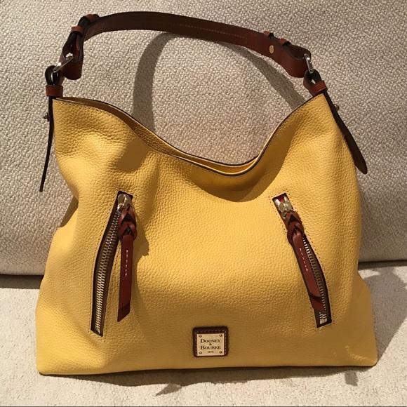 b8c1b7d330ef86 Bags | Dooney Bourke Pebble Leather Hobocooperlemon | Poshmark